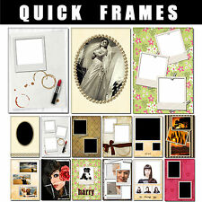 quick frames  easy to use photoshop frame templates