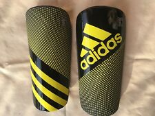 New Soccer Ghost Pro Slip & Shield w/ Sleeve Shin Guard yellow black size L