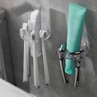 Plastic Toothbrush Holder Storage Rack Shaver Tooth Brush Bathroom Organizer