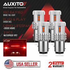 4x AUXITO 1157 BA15D P21/5W Red LED Brake Stop Tail Light Bulb Super Bright US