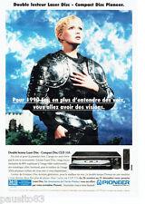 PUBLICITE ADVERTISING 1016  1996  le lecteur laser Disc compact Pioneer