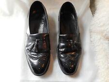 New listing Size 15 Men's Shoes Vtg Florsheim Tassel Wingtips Black Leather Loafer Style