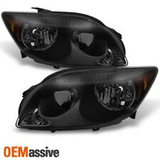 2005 2006 2007 Scion tC ANT10 Black Smoked Headlights HeadLamps Replacement Pair