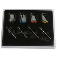 1 Box Dental Fiber Set 20 Pcs Fiber Post & 4 Drills Thread Dentist Product Kit