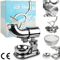 Heavy Duty Commercial 440lb/h Snow Cone Ice Shaver Stainless Steel Icee Machine