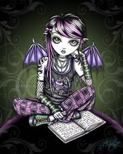 Emo Pink Fairy School Girl Myka Jelina Gothic FAERIE Art Signed Print ALLY