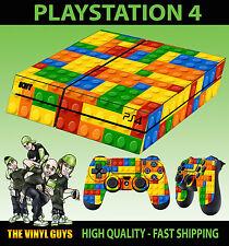 PS4 Piel juguete Ladrillos Bloques de construcción NUEVO Pegatina + MANDO plano