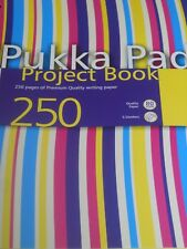 1 x CLASSIC PUKKA PAD PROJECT BOOK - MULTI STRIPES FRONT - NEW - UK POST FREE