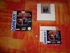 Mortal Kombat & Mortal Kombat II 2 Complet Nintendo Game Boy
