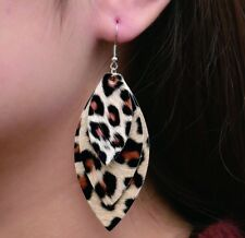 Boho Festival Party Boutique Uk Brown Beige Layered Animal Fashion Earrings