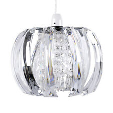 Modern Clear Jewel / Beads Ceiling Pendant Light Lamp Shade Chandelier Lampshade