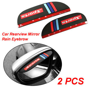Car Rear View Side Mirror Rain Board Eyebrow Guard Sun Visor Auto Parts Black