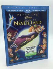 Peter Pan: Return to Neverland (Blu-ray+DVD, 2012) w/ Slipcover