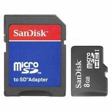 SanDisk 8GB microSD micro SD SDHC class 4 C4 8G microSDHC Memory Card Bulk w/A