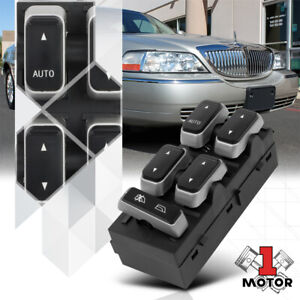 [Front Left] Driver Side Power Window Switch Control for 03-08 Lincoln Town Car
