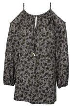 Michael Kors Safari Cold-Shoulder Green/Black Dress XL , 2578-3
