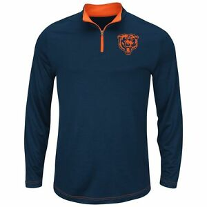 Chicago Bears MENS Ready & Willing Synthetic 1/4 Zip Pullover by Majestic