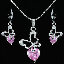 White Gold Plated Sapphire Fashion Jewellery Sets