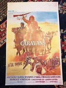 Caravans Original Belgian Movie Poster Affiche 1978 Anthony Quinn