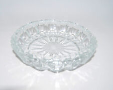 Vintage Mid-Century Crystal Ashtray from France, Tobacciana, Cigarette, Crystal
