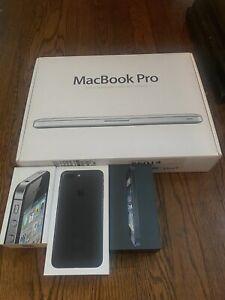 Lot Of Apple Items MacBook Pro A1278 Laptop iPhone 4,5,7 Original Boxes 4 Parts