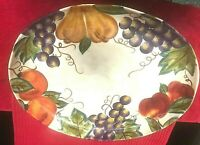 "Corsica 18"" Oval Serving Platter Venetian New Free Ship Retail $119.95"