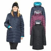 Trespass  Homely Womens Padded Jacket Long Coat in Black Purple & Navy
