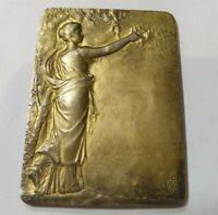 Paris mint Félix Rasumny in silver 950 rare Art Nouveau  plaque medal medaille