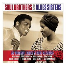 SOUL BROTHERS & BLUES SISTERS - 50 ORIGINAL BLUES & SOUL CLASSICS (NEW 2CD)