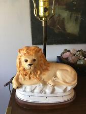 Vintage Mid Century Modern Glazed Ceramic Light /Lamp - Italian?