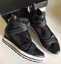 Todschicke Marc Cain Sneaker Plateau Hidden Heel Leder Schwarz Gr.38 Neuwertig