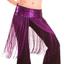 US2 Belly Dance Costume Hip Scarf  Tassel wrap Belt Hula Skirt  Fringe Bollywood