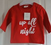 New Next boys up all night top Red 0-3  months
