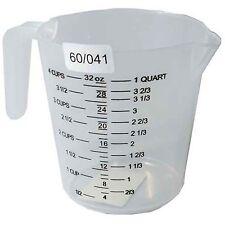 Medición Jarra 1 Litro 1l Plástico Cocina Oz Pinta Cuarzo Tazas Fl mediciones