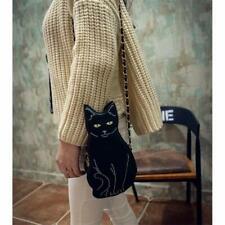 Black Cat Bag Single Shoulder Chain Cute Messenger Bag Women Fashion Cross BodyN