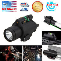 US 20mm Rail Mount Green Laser Sight+CREE LED Flashlight Combo For Rifle Pistol