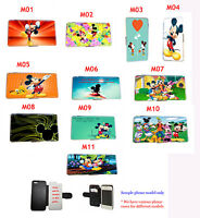 Disney Mickey Minnie Mouse leather card phone case iPhone 4 4s,5 5s,5c,6,6 plus