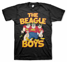 The Beagle Boys Official Disney Donald Duck Scrooge Mens Black T-shirt