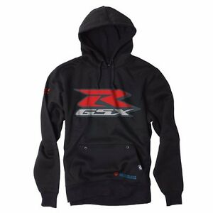 Factory Effex GSXR Hooded Pull Over Sweatshirt Size L GSX-R 600 Hayabusa 1300