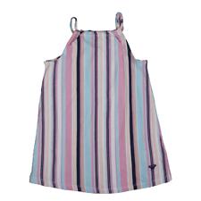 Roxy Girl's Multicolor Striped Sleeveless High Neck Dress (S01)