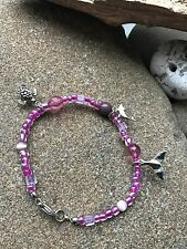 Pink Beads Tail Anklet -Surfing Lifestyle