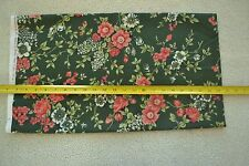 """By-the-Half-Yard, 44"""", Peach Floral on Dark-Green Quilter's Cotton, SSI, M5102"""