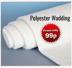 Premium Polyester Wadding Roll for Quilting and Upholstery Craft Padding Fibre