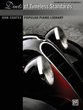 """Dan Coates Popular Piano Library """"Duets of Timeless Standards"""" MUSIC BOOK-NEW!!"""