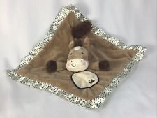 Douglas Baby Plush Pony Horse Lovey Security Satin Stars Blanket Toy Smiling