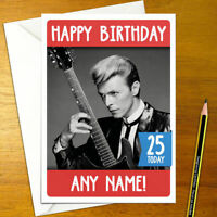 david bowie rebel happy birthday card Funny 5x7 inches greeting