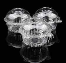 100 pcs PVC Single Cupcake Case Muffin Cake wraps Box with cap birthday party