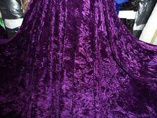 6 M di qualità Viola Scuro ICE Crush tessuto in velluto... 58 Pollici di larghezza
