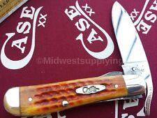 Case XX Cutlery RussLock Knife Pocket Worn Harvest Orange 17000 Knives USA Made