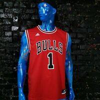 Derrick Rose Chicago Bulls Adidas Jersey 2012 Red Shirt NBA Trikot Mens Size L